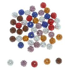 50pc/lot 10mm Multi Micro Pave Disco Crystal Shamballa Beads Bracelet Spacer
