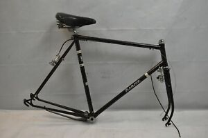 1982 Araya Touring Road Bike Frame Set 58cm Large Fixie Lugged Steel USA Charity