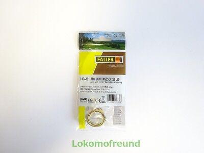 FALLER 180660 Beleuchtungssockel LED NEU /& OVP + warm weiß