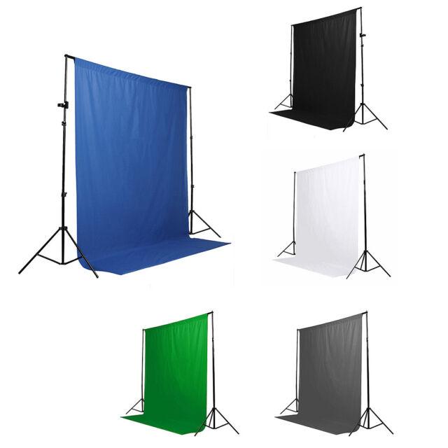 6x9 ft Muslin Photo Backdrop Background Studio Photography Blue Gray Black White