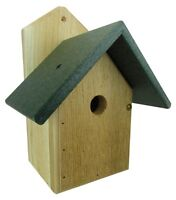 Nature Products Usa Chickadee Birdhouse, Green Recycled Poly Lumber Roof Wren-4g
