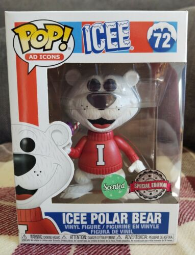 ICEE Polar Bear #Scented #Xclusive #72 #Icee #SpecialEdition Funko Pop Ad icônes
