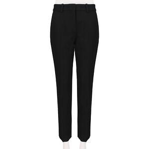 Victoria-Beckham-Black-Wool-Gaberdine-Slim-Leg-Trousers-Pants-IT42-UK10