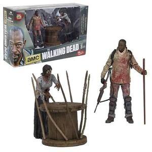 Walking Dead: Boîte de luxe Morgan avec figurine d'action empalée Walker Macfarlane Toys
