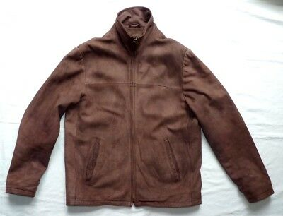 Men's  WOODLAND  Brown Butter Soft Real LEATHER JACKET  Size M