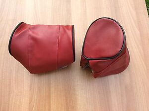 mg-mgb-headrest-covers-D-shape-Red-Black-Piping-kit-Car-Etc