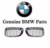Bmw E46 M3 Pair Set Of Front Left And Right Chrome Frame Kidney Grilles Genuine on sale