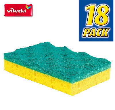 Vileda Non-Scratch* Scouring Sponge x 18pk