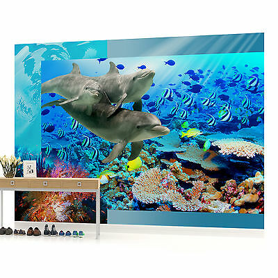 WALL MURAL PHOTO WALLPAPER PICTURE (72P) Dolphin Bedroom Boys Girls Children