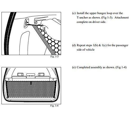 Trunk Envelope Style Cargo Net for Toyota 4Runner 3 Row ONLY 2010-2019 BRAND NEW