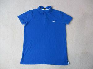 Helly-Hansen-Polo-Shirt-adult-large-bleu-blanc-en-plein-air-randonnee-Rugby-Homme