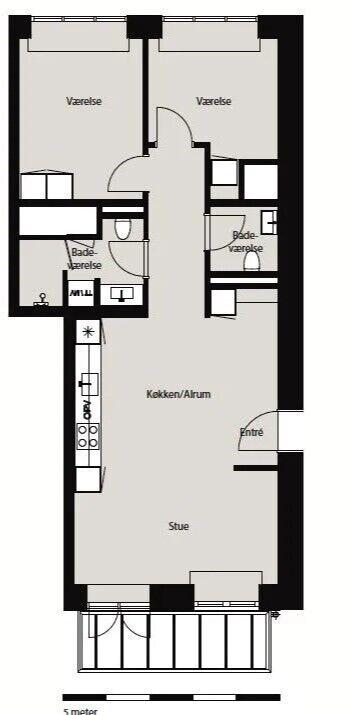 5000 vær. 3 lejlighed, m2 89, Munke Mose Allé