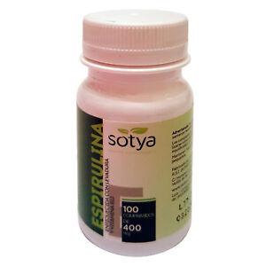 ESPIRULINA-100-Comprimidos-de-400-mg-SOTYA-Saciante-Dietas-Spirulina