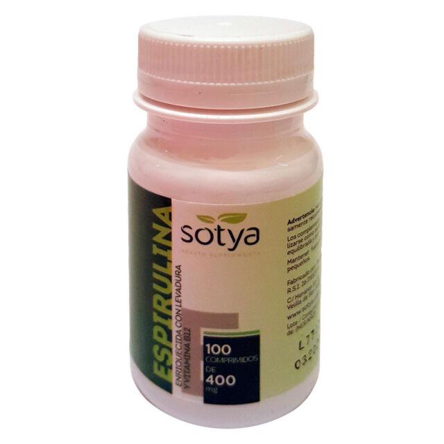 ESPIRULINA  100 Comprimidos de 400 mg. - SOTYA -  Saciante Dietas - Spirulina