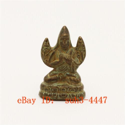 Hand Engraved Handmade Copper Bronze Tibetan Tantra Buddha Small Statue Ornament