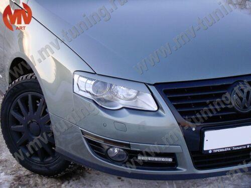 Mv-Tuning Front Eyelids Eyebrows Headlight Covers for VW Passat B6 2005-2011