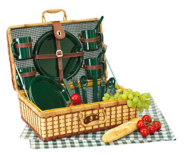 Picknickkorb Picknickkoffer Picknicktasche m. Besteck Gläser Teller Teller Teller Brett vs Mod 63533d