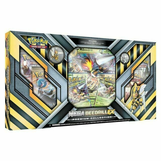 MEGA BEEDRILL EX Premium Collection Box POKEMON TCG Cards Sealed Packs Promo Pin