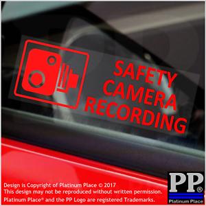 taxi advertencia de seguridad, 5 x cámara de grabación de seguridad-Rojo-Pegatinas interno-coche van