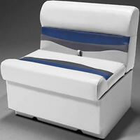 28 Pontoon Boat Bench Seat In Gray, Blue And Charcoal