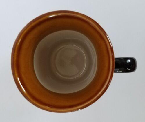 4 Royal Norfolk Black Square Coffee/Latte Mugs w/ Brown Rim 5