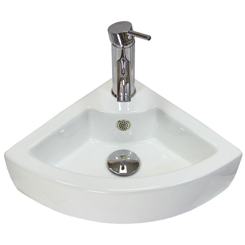 Vestiaire Main évier coin lavabo salle de bain mural petit bol en céramique