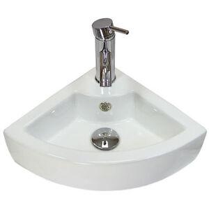 Vestiaire Main évier coin lavabo salle de bain mural petit bol en céramique  </span>