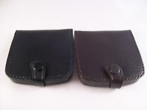 Leather Coin Tray Pouch Purse Mens Unisex Change Work School