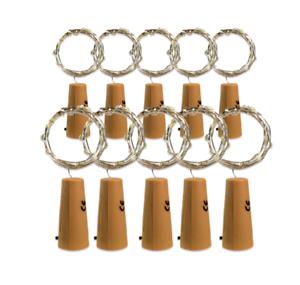 10x led korken lichterkette flaschenkorken wein flaschen lampe versand aus de ebay. Black Bedroom Furniture Sets. Home Design Ideas