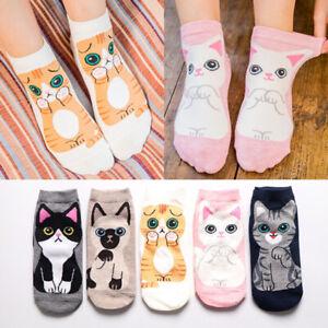 5Pairs-Women-Fashion-Ankle-Socks-Kawaii-Cartoon-Cat-Cotton-Socks-Spring-Sum-PN