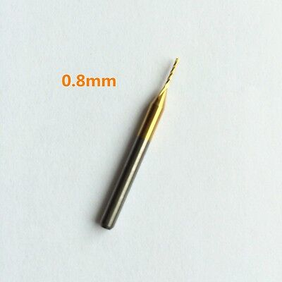 Titanium Coated Carbide End Mill Engraving Bits für CNC PCB Rotary Burrs 0.8-2.5