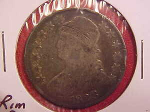 1823 Capped Bust Half Dollar Rim Ding On Reverse Vg