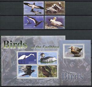 La Dominique 2005 Oiseaux Birds Oiseaux Uccelli Oiseaux Aquatiques 3626-33 + Bl.504 ** Neuf Sans Charnière Produits Vente Chaude