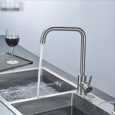 Durable Brushed Nickel Faucet Modern Kitchen Water Mixer Tap Stainless Steel