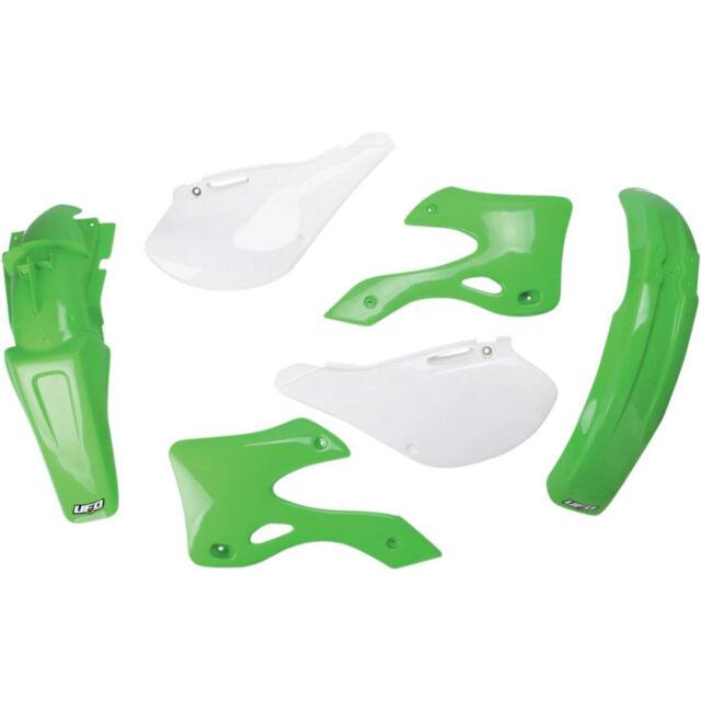 UFO Plástico Kit Completo Kawasaki KX 125/250 99- 02 Original Verde Blanco