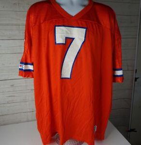 buy online 2b5e2 ba58b Details about Vintage John Elway 7 Denver Broncos Champion Orange Crush  Jersey NFL 52 XXL