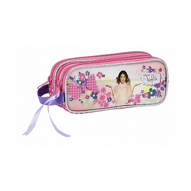 Violet Flowers-triple Pouch-show Original Title