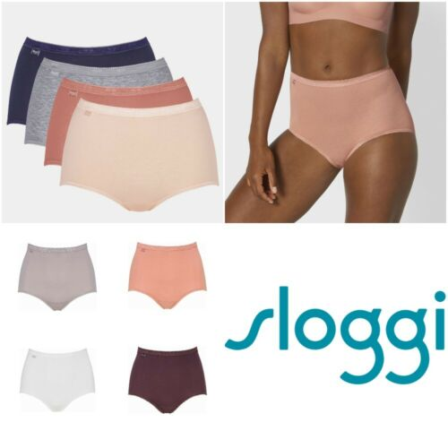 Maxi Brief Knickers Pants 4 Pack 95/% Cotton 10103326 RRP £36.00 Sloggi Basic