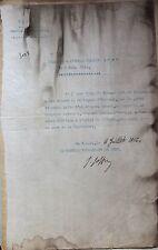 Diplôme signé JOFFRE attribution de fourragère pour régiment