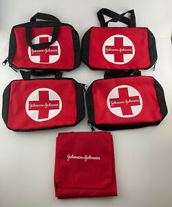Johnson & Johnson First Aid Kit Red Zippered Carrying BAG ONLY