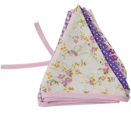 12 Flags Charms Wedding /& Party Cotton Handmade Triangle Bunting Banner Flag Z