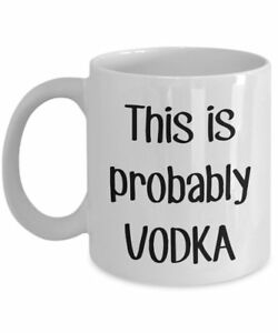 This is Probably Vodka Travel Mug – Funny Tea Hot Cocoa Coffee Cup - Novelty...