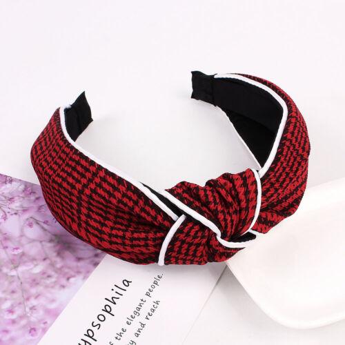 Houndstooth Bow Knot Hair band Women Hoop Simple Sweet Girl Headband Accessory