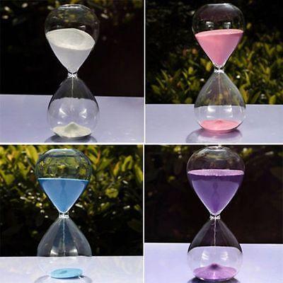 10//30//60 Minutes Glass Sand Glass Sandglass Hourglass Timer Clock Home Decor
