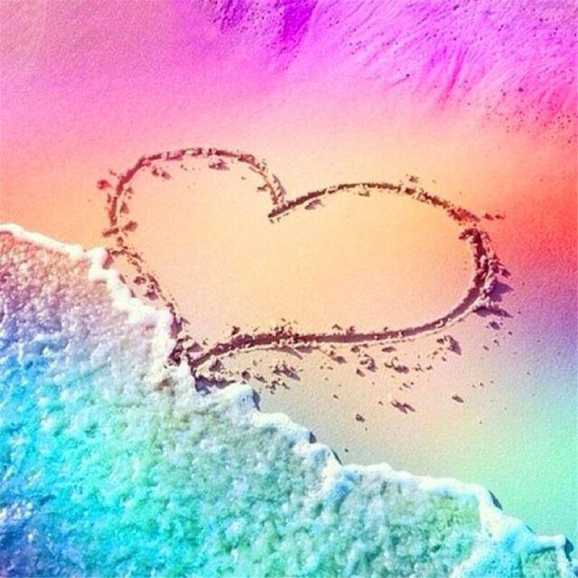 Full drill DIY Diamond Painting Love Beach Embroidery Cross Stitch Home Decor SP