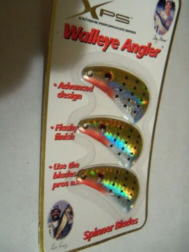 Bass Pro Shop XPS H711 Hologram Size 7 Hatchet Spinner Blades Grn//Ylw//Spots NIP