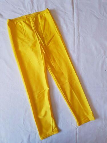 Leggings activewear nylon Lycra mid calf length many colours /& sizes