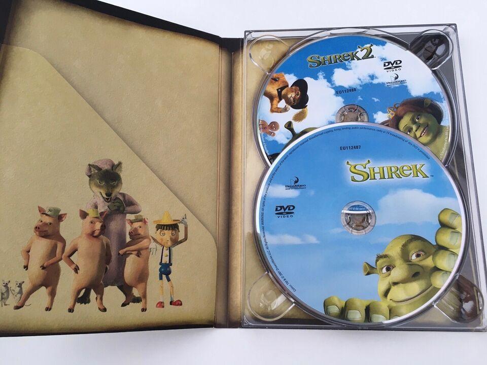 Shrek 1-3, DVD, animation