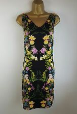Monsoon Black Floral Party Occasion Evening Shift Dress Size 12