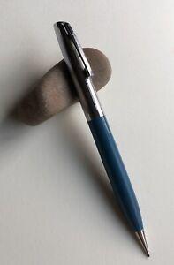Vintage-Sheaffer-Mechanical-Pencil-Classic-Blue-Chrome-Trim-EDC-Working-USA